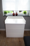 Changing unit, table top, Cot Top for IKEA Malm dresser NEW! White!