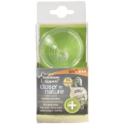 2X Tommee Tippee Closer to Nature Anti-Colic Fast Flow Teats