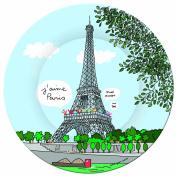 PARIS SB920G Eiffel Tower Dessert Plates