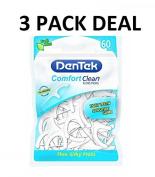 DenTek Comfort Clean Floss Picks ***3 PACKS OF 60***