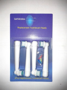 Pack of 4 soft bristles replacement brush heads compatible with braun Oral B