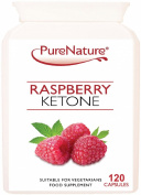 120 Pure Raspberry Ketone to Support Weight Loss & Slimming UK Made & Certified Suitable for Vegetarians & Vegans FREE UK Delivery