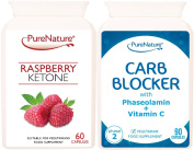 Raspberry Ketone & Carb Blocker Best sellers Dual Pack suitable for Vegetarian & Vegans FREE UK Delivery