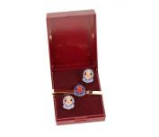 queens lancashire regiment cufflink and tieslide gift set.