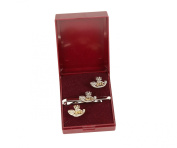kings shropshire light infantry cufflink and tie bar gift set.