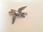 B35 Peregrine English Pewter emblem on a Tie Clip 4cm Handmade in sheffield comes with PrideInDetails gift box