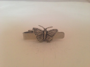 C2 Small Butterfly English Pewter emblem on a Tie Clip 4cm Handmade in sheffield comes with PrideInDetails gift box