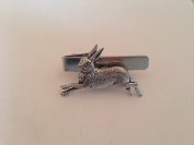 A2 Hare English Pewter emblem on a Tie Clip 4cm Handmade in sheffield comes with PrideInDetails gift box