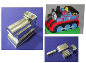 Novelty Cake Baking Tin - 3D Thomas Train - 4 Part 3D