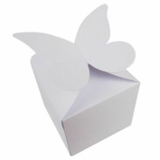 100 x White Large Butterfly Top Wedding Favour Boxes, Size