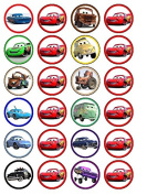 24 x Cars (#2) Cupcake Cake Toppers