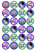 24 George Pig (#2) Cupcake Cake Toppers
