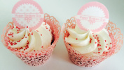 """24 x 1.5"""" (3.8cm) pre-cut Happy Mother's Day in pink round edible cupcake topper decorations by Topped Off"""