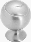Spiral Ball Swirl'z Knob - Satin Nickel