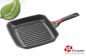 Pradel Excellence - 92382M - Grill Pan 26 CM + Removable Handle - All lights and induction - PFOA FREE