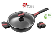 Pradel Excellence - 92393M - Saute Pan 24 CM + Removable Handle - All lights and induction - PFOA FREE