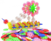 400 Pcs Baby Toys Educational Snowflake Creative Building Blocks for Kid
