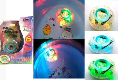 KIDS BATH FUN LED LIGHT TOY PARTY IN THE TUB MAKE BATH TIME FUN colour CHANGING WATER FLOATING LIGHT - IDEAL ENTERTAINMENT FOR CHILDREN WHEN TAKING A BATH