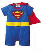 SUPERMAN BATMAN SUPERGIRL BABY GROW FUNKY CUTE FANCY DRESS OUTFIT GIFT