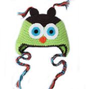 Toddler Boy Baby Handmade Knit Crochet Owl Hat Infant Cap
