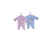 BNWT Gorgeous velour pink or blue cheeky monkey sleepsuit