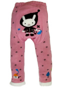 Baby and Toddler Woolly leggings by Dotty Fish girls Pink Winter Bunny