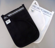 Set of 2 Keses - Black & White Hamam Hammam Spa Exfoliator Kessa Shower Glove Mitt