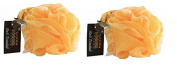 Hydrea Large Exfoliating Body Puff / Scrunchie /Buffer - Bath & Shower Twin Pack
