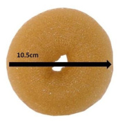Womens Girls On Trend Fashionable 10.5cm Large Hair Donut / Doughnut Bun Former / Styler - Blonde