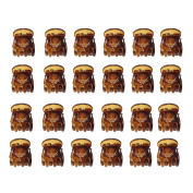 24pcs Mini Brown Plastic Hair Clips Claw Clamps Head Accessories For Women Lady