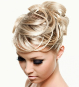 SCRUNCHIE HAIR EXTENSION ASH BLONDE MIX FULLER SCRUNCHIE UP DOWN DO SUPER SPIKY TWISTER