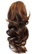 PRETTYSHOP 36cm & 110g Hair Piece Ponytail Extension Straight Light Curled Nature Looking Heat-Resisting Different Colours