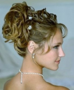 HAIR EXTENSIONS CURLY MESSY DRAWSTRING UPDO FULL BUN IN BROWN BLONDE MIX