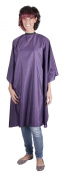 Professional PURPLE Sleeveless Hairdressing Gown - Water-Repellent - Adjustable Neck