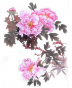 """GGSELL Extra large dimension Length 12.6 X Wide 22cm beautiful peony temporary tattoos for full back for women"""""""