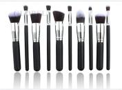10pcs Kabuki Style Professional Make up Brush Set Foundation Blusher Face Powder - GLOBEL ELECTRONICS®