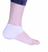 1pair Gel Heel Sleeve Moisturising Silicone Heel Ankle sleeve for Pain Relief Cushion