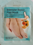 """INTENSIVE REPAIRING FOOT MASK """"APRICOT"""" - 1 pair * Newly designed """"Sock-type"""" mask * Repairs rough, dry feet * Apricot & shea butter"""