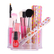 YESURPRISE New Makeup Nail Art Tool Acrylic Storage Display Stand Organiser Case Holder Box Clear