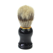 Professional Face Facial Beard Moustache Shaving Brush Tool Black Plastic Handle