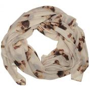 Choose Brand new Colour ~ Gorgeous Pug Dog Print Ladies Soft Scarf Wrap Pugs Scarves