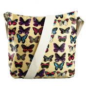 Scottie Dog Butterfly Polka Dot Floral Oilcloth Messenger Saddle Bags
