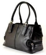 New Ladies Shoulder Handbag Faux Leather Zipped 2 Compartments Bag