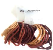 Allsorts® 36 Brown Tones Endless Elastics Hair Bobbles Elastic Bands Hair Accessory