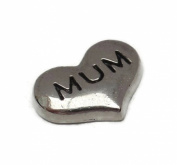 Mum Heart Floating Charm For Living Memory Glass Lockets Necklace Mothers Day Gift
