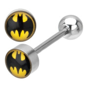 DC Comics Batman Stainless Steel Barbell Tongue Ring 14G 1.6cm