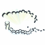 36 Acrylic Glow in the Dark Taper Ear Plug Gauge Stretcher 14G-00G Jewellery