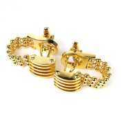 Men's Shirt Chain Cufflinks Cuff Links Gold Tone