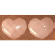 Gifts and Guidance Rose Quartz Carved Pocket Heart Ideal Wedding Favours X 10