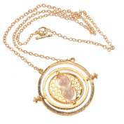 Rotating Hour Glass Pendant Necklace